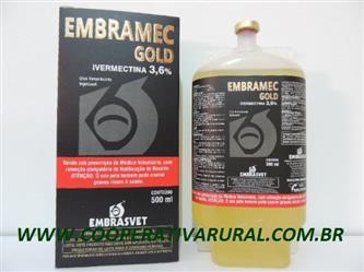 EMBRAMEC GOLD 3.6% IVERMECTINA  REGISTRADO NO MINISTÉRIO ( MAPA)